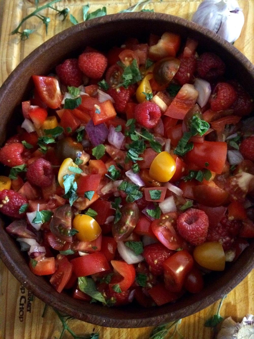 raspberry salad 2
